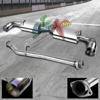 "MAZDA RX-8 RX8 SE3P RACING STAINLESS DUAL CATBACK EXHAUST 3.5""TITANIUM BURN TIP"
