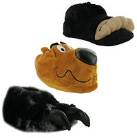 New Mens Warm Flat Gift Doggy Hound Dog Novelty Slippers Sizes UK 7 8 9 10 11 12