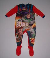 DISNEY PIXAR TOY STORY FLEECE FOOTED PAJAMAS TODDLER BOYS SIZE 18 MONTHS NWT!