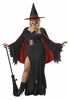 SCARLET WITCH  PLUS SIZE FANCY DRESS HALLOWEEN COSTUME ADULT  LADIES