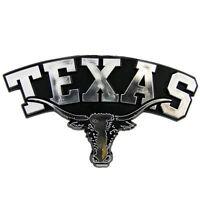 Texas Longhorns NCAA Chrome 3D Auto Plastic Car Emblem Decal College Team Logo