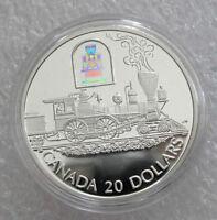 "2000 CANADA SILVER 20 DOLLARS TRANSPORTATION  ""THE TORONTO"", TRAIN PROOF"