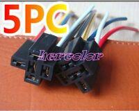Lot 5 Car Auto 12V Volt DC 40 AMP Relay Socket Harness 5 Pin 5 Wire
