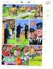 Original 1992 Excalibur 52 page 22 Marvel Comics color guide comic art: 1990's