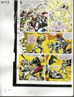 1990 Avengers 327 page 2 Marvel Comics color guide art: Thor/Iron Man/She-Hulk