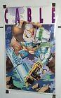 34 x 22 Original 1993 Marvel Comics X-Men/X-Force Cable comic art poster: 1990's