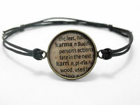 ** DICTIONARY CORD BRACELET * KARMA LOVE FATE * BOHO HIPPY * RING NECKLACE GIFT*