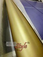 Pellicola adesiva in Vinile Oro Opaco 0.3m x 1.5m senza aria per veicoli
