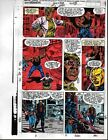 1991 Avengers 328 page 26 Marvel Comics color guide art: Captain America: 1990's