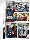 1991 Avengers 328 page 27 Marvel Comics color guide art: 1990's Captain America