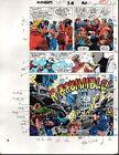 1989 Avengers 312 page 27 Marvel Comics color guide art: 1980's Captain America