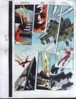 Original 1997 Colan Daredevil 368 Marvel color guide art page 10:X-Men Omega Red