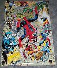1990's Marvel Comics Universe 33 by 21 poster 1: X-Men/Spider-man/Wolverine/Hulk