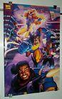 1996 Marvel Comics 35 x 23 Uncanny X-Men poster 1:Wolverine/Gambit/Bishop/1990's