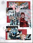 Vintage original 1993 Daredevil 315 page 25 Marvel Comics color guide art:1990's