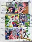 Original 1990's Wonder Man 7 page 16 color guide comic book art: Captain Marvel