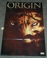 36 x 24 X-Men Wolverine Origin 4 Marvel Comics comic book promo poster: 3 x 2 ft