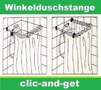 Winkelduschstange Duschvorhangstange Duschstange Winkel Chrom 80 bis 240cm