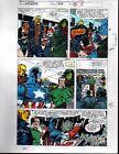 1991 Marvel Comics Avengers 329 color guide art page 18:Captain America/She-Hulk