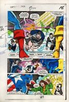 1984 Captain America 295 page 18 Marvel Comics original color guide art: 1980's