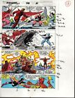 1989 Avengers 312 page 13 Marvel Comics color guide art: Scarlet Witch/Falcon