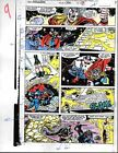 Original 1991 Avengers 330 Marvel color guide art page 9: Thor/Captain America