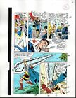 1989 Avengers 301 original Marvel color guide comic art page:Thor/Fantastic Four