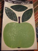 Vintage Retro BSB EURODECAL TRANSFER Giant Green Apple