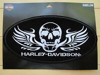 "Harley Davidson X-Large ""Soldier Skull"" Emblem Patch (CLEARANCE)"