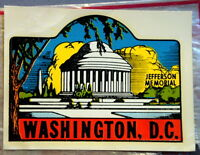 vtg impko water decal washington DC travel souvenir trailer hot rod novelty