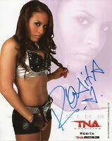 ZOLITA VEGA NXT SIGNED PHOTO WRESTLING PROMO WITH COA WWE TNA Rosita