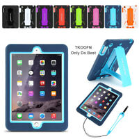 KIDS HEAVY DUTY DEFENCE SHOCK PROOF HARD CASE COVER FOR APPLE IPAD
