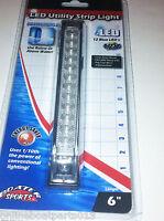BLUE UNDERWATER LED BOAT LIGHT, 6 INCH- 12 LEDS, UTILITY STRIP LIGHT