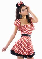 Womens mini mouse fancy dress costume party minnie's polka dot outfit 10-12 M