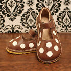 Brown w Polka Dots Girl Toddler Mary Jane Squeaky Shoes,Size 3, 4, 5, 6, 7, 8, 9