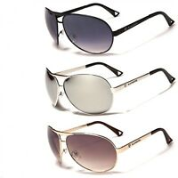 Fashion Biohazard  BZ-43 Aviator Men Sunglasses New Metal Frame Black Mirror NWT