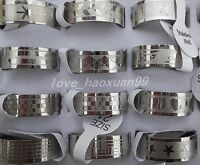 wholesale lots 50pcs Gothic Stainless Steel silver Men's Favor Jewelry Ring FREE
