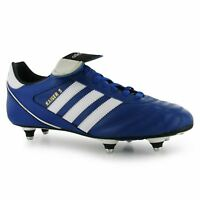 Adidas Kaiser Cup Soft Ground Mens Football Boots Royal/White Soccer Footwear