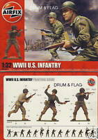 AIRFIX 02703 WWII U.S. INFANTRY 1:32 SCALE X 14 FIGURES. US AMERICANS AMERICAN