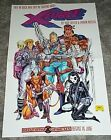 1991 Rob Liefeld X-Force/Cable/Domino Marvel Comics mutants promo poster: 1990's