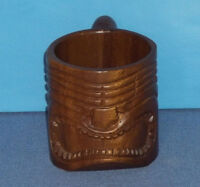 Vintage Monkeypod Carved Wooden Hawaiian Tiki Mug