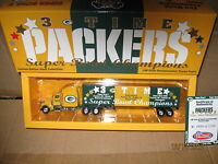 Green Bay Packers 3 X Super Bowl Championship NFL Tractor Trailer  WRC