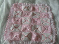 DOUBLE LAYERED STUNNING PRAM BLANKET BABY KNITTING PATTERN