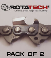 "14"" ROTATECH CHAINSAW SAW CHAIN *PACK OF 2 CHAINS* FITS SOME HUSQVARNA CHAINSAWS"