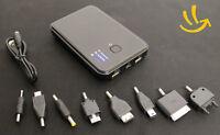 Universal USB Akku extern 5000mAh Power Bank Ladegerät iphone iPad s2 s3 schwarz