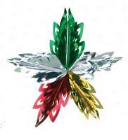 Hanging Star Burst Christmas Foil Decorations
