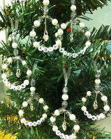 Personalised-Xmas Tree-Decorations-Handmade-Glass Beads-any Colour Scheme-Lux