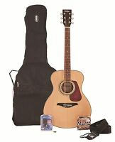 Vintage V300N Acoustic Guitar Package + Bag, Tuner, Strap, Pick & Spare Strings