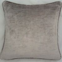 2 X 16 Inch Cushions And Inners Laura Ashley Villandry French Grey Velvet Fabric