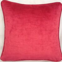 4 X 16 Inch Cushions And Inners Laura Ashley Villandry Cranberry Velvet Fabric